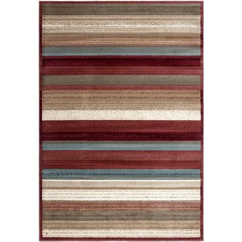 Striped Area Rugs 8x10 with Ottomanson Contemporary Striped Multi 7 Ft 10 In X 10 Ft 6 In Area Rug Rgl9109 8x10 The