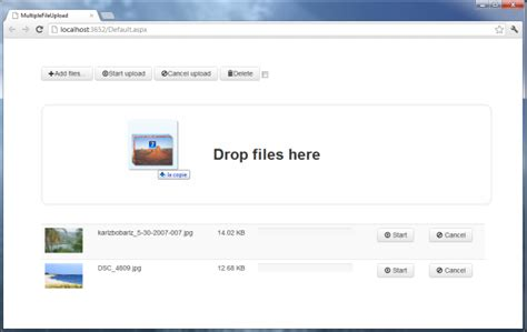 6 how to create drag drop using html5 tutorials asp net multiple file upload with drag drop and progress