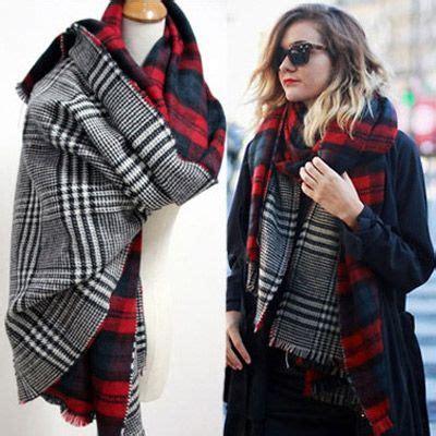 Scarf Syal Wanita 47 syal scarf musim singin wanita two side grid pattern simple 01eafc coat korea