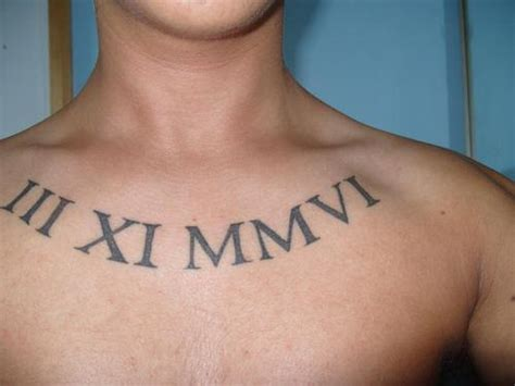 roman numeral date tattoo 26 ingenious numeral tattoos for 2013 creativefan