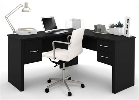 Black L Shaped Desk Somerville Black L Shaped Desk From Bestar 45421 1118 Coleman Furniture