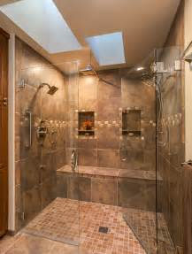 Tiled Showers With Bench Amazing Shower In This Master Bath Renovation In Denver