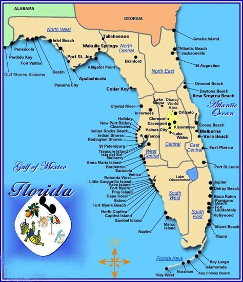 florida map of beaches cities of gulf beaches florida point west biloxi and