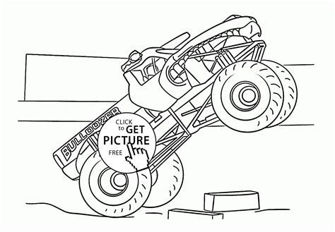 monster trucks coloring pages printable coloring pictures of el toro loco monster truck