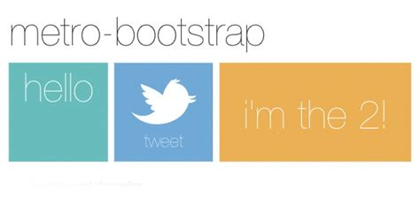 bootstrap themes tiles metro user interface implementation and resources