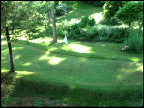 backyard golf course pictures youtube