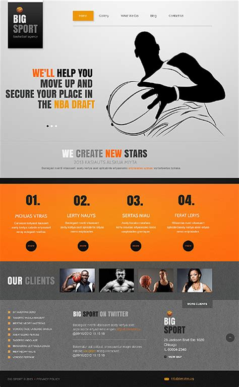 Top 6 Best Sport And Fitness Joomla Templates In 2014 Free Sports Web Templates