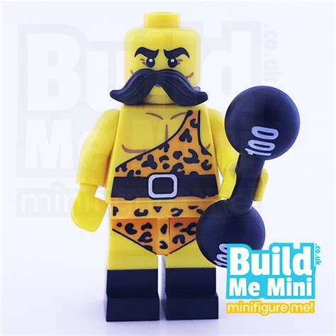 Lego Circus Show 3 lego circus strongman weightlifter collectible minifigure series 17 personalised lego
