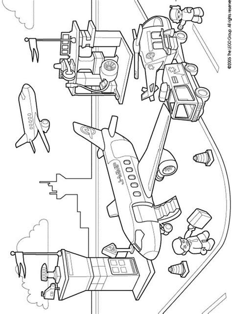 lego duplo coloring pages airport parties pinterest