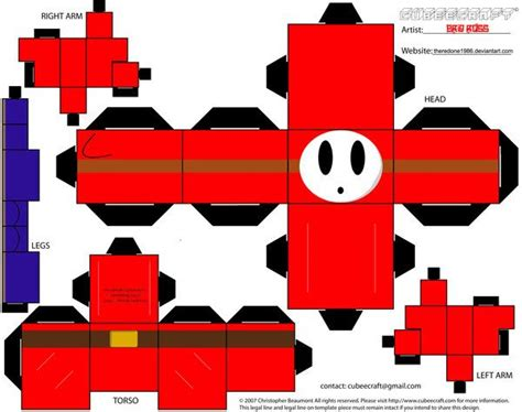 How To Make Origami Mario - 21 best images about character paper craft cube