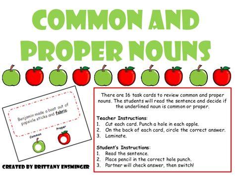 With The Proper common proper nouns