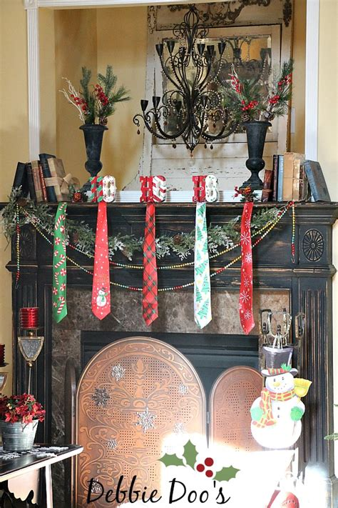 dollar tree christmas letters mantel with a twist and tie debbiedoos