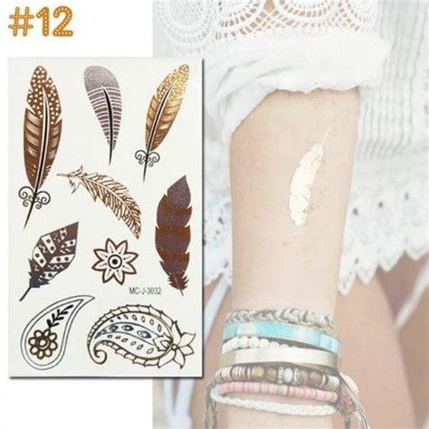 flash tattoo vogue tatouage ephemere fantaisie fashion summer glitter dore