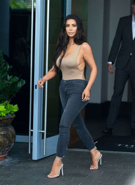 nudo hair west street kim kardashian in skin colored top and jeans page 21