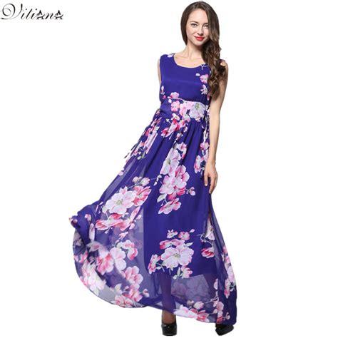 aliexpress buy 2017 womens summer chiffon clothing bohemian print maxi