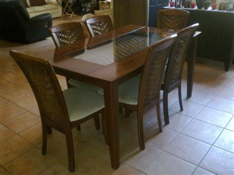 rattan dining set cheap dining table sets half glass top table