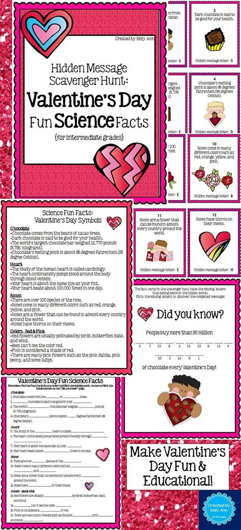 7 Facts On Valentines Day by A S Day Science Scavenger Hunt Students Learn
