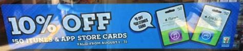 Itunes 5 Gift Card Free Sle - 7 eleven locations have 10 off 50 itunes cards for the month of august iphone in