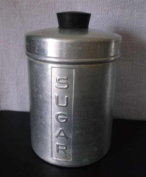 kitchen canisters set of 4 vintage metal kitchen canisters aluminum flour sugar
