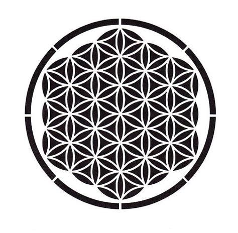 stencil fiori da stare flower of stencil sacred geometry ancient by