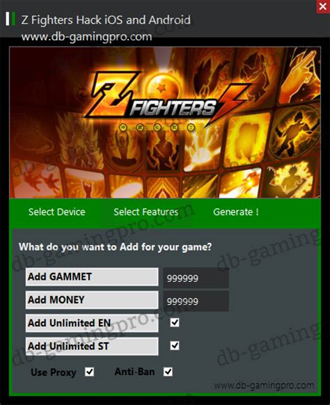 ios mod game hack z fighters hack for ios and android db gamingpro