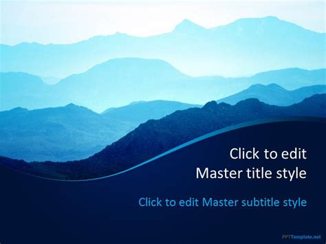 Free Mountains Ppt Template Presentation Powerpoint Templates Free