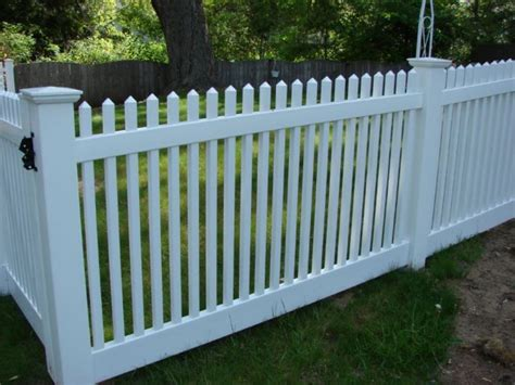 backyard vinyl fence yard fencing