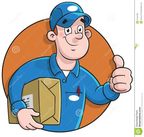 free vector united states map illustrator cartoon courier making a delivery royalty free stock photos image 21454138