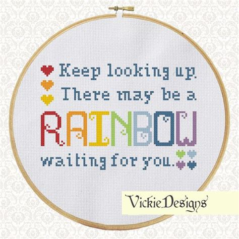 cross stitch pattern free quotes rainbow sler quote saying cross stitch pattern pdf