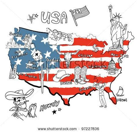 map of united states with landmarks american landmarks united states map of