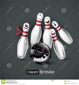 happy birthday smile bowling stock illustration image