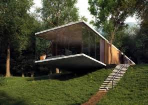 Design with perfect balance built on a slope interior design ideas