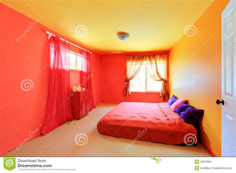 bright bedroom colors bright vivid colors bedroom interior stock photo image