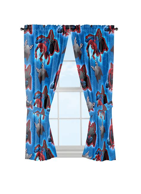 marvel spider man window curtains  piece