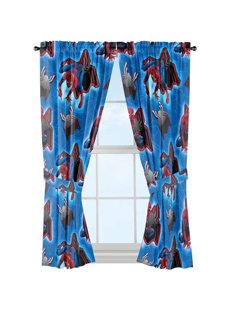marvel spider man window curtains  piece