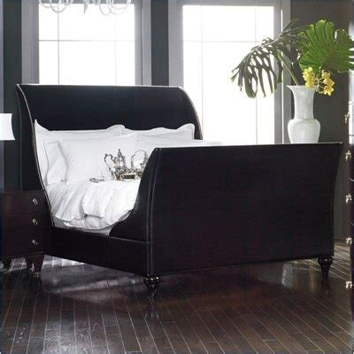 Black Leather Sleigh Bed Curt Christian By Martin Home Furnishings Black Leather Sleigh Bed Home Home I