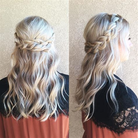 curly hairstyles half up half down for school prom hairstyle half up half down cute back to school