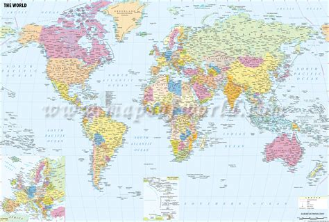 world map cities buy world political map with cities