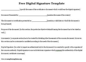 html signature template free digital signature template of free digital