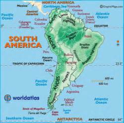 south america river map landforms of south america mountain ranges of south