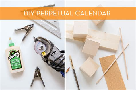 Diy Desk Calendar Modernize Your Boring Desk With This Diy Wood Block Calendar Curbly