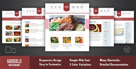 goodold restaurant responsive wordpress theme by