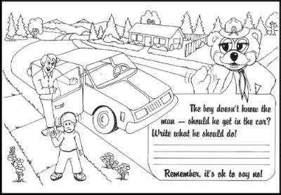 stranger danger coloring pages preschool coloring pages