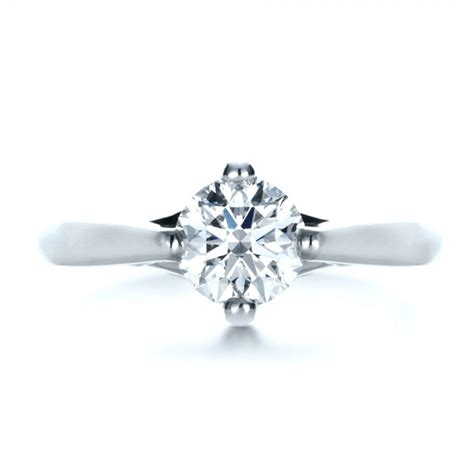 Contemporary Engagement Rings by Contemporary Solitaire Engagement Ring 1389