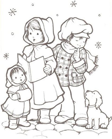 coloring page christmas carolers flintstones christmas carol coloring pages coloring pages