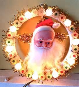 items similar to vintage santa light tree topper wall