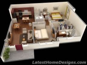 Simple Interiors For Indian Homes 1000 square feet 3d 2bhk house plans small houses