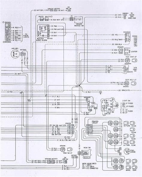 1978 camaro instrument panel wiring schematic