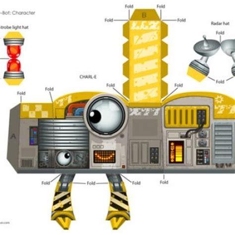 Papercraft Robots - eye c u robot paper craft thema robot kleuters robot
