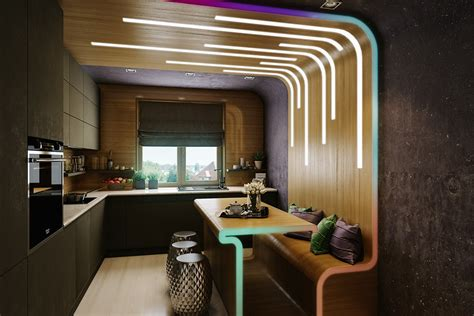 Purple Kitchen Designs 3 Stylish And Organize Awesome Studio Apartment Designs